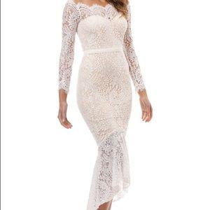 Elle Zeitoune Marchesa Dress - White